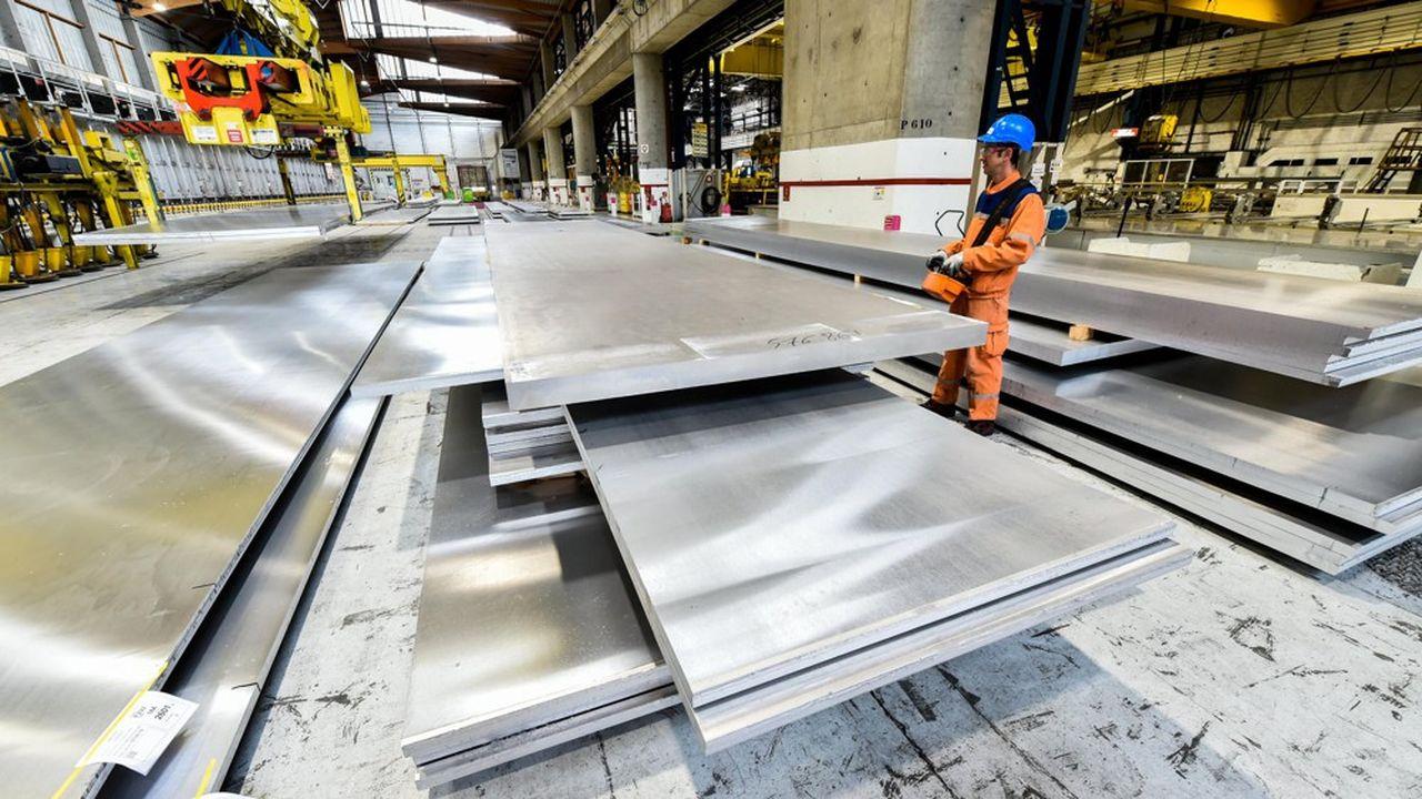 Dans l'atelier des tôles d'aluminium de Constellium Issoire (Puy-de-Dôme).