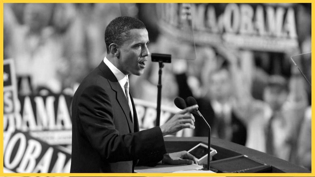 Barack Obama, le 27juillet 2004, à Boston.