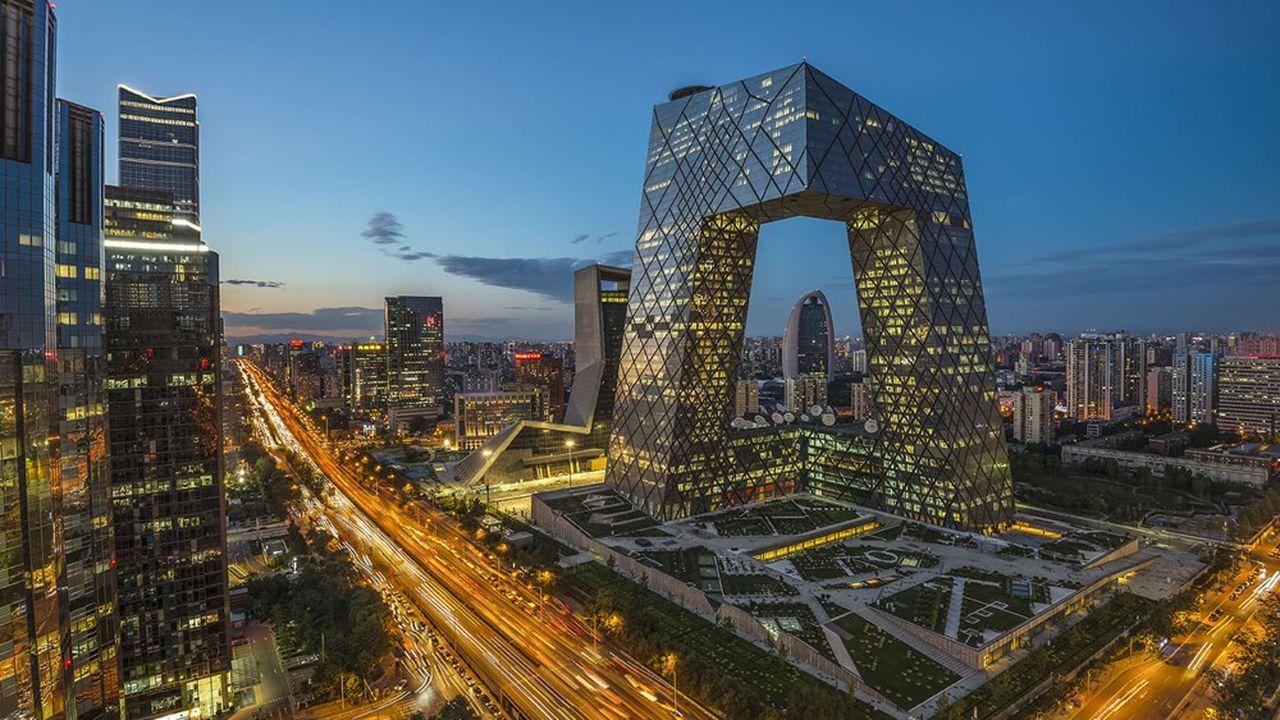Le quartier central des affaires de Pékin, un mélange de bureaux et d'appartements.