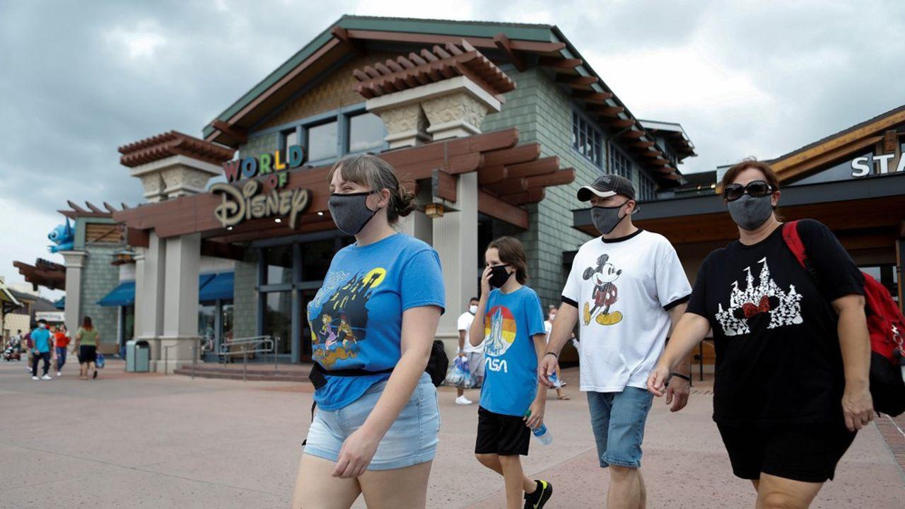 Disney a rouvert son parc à thème en Floride en juillet, mais la reprise de l'épidémie aux Etats-Unis pèse sur l'activité.