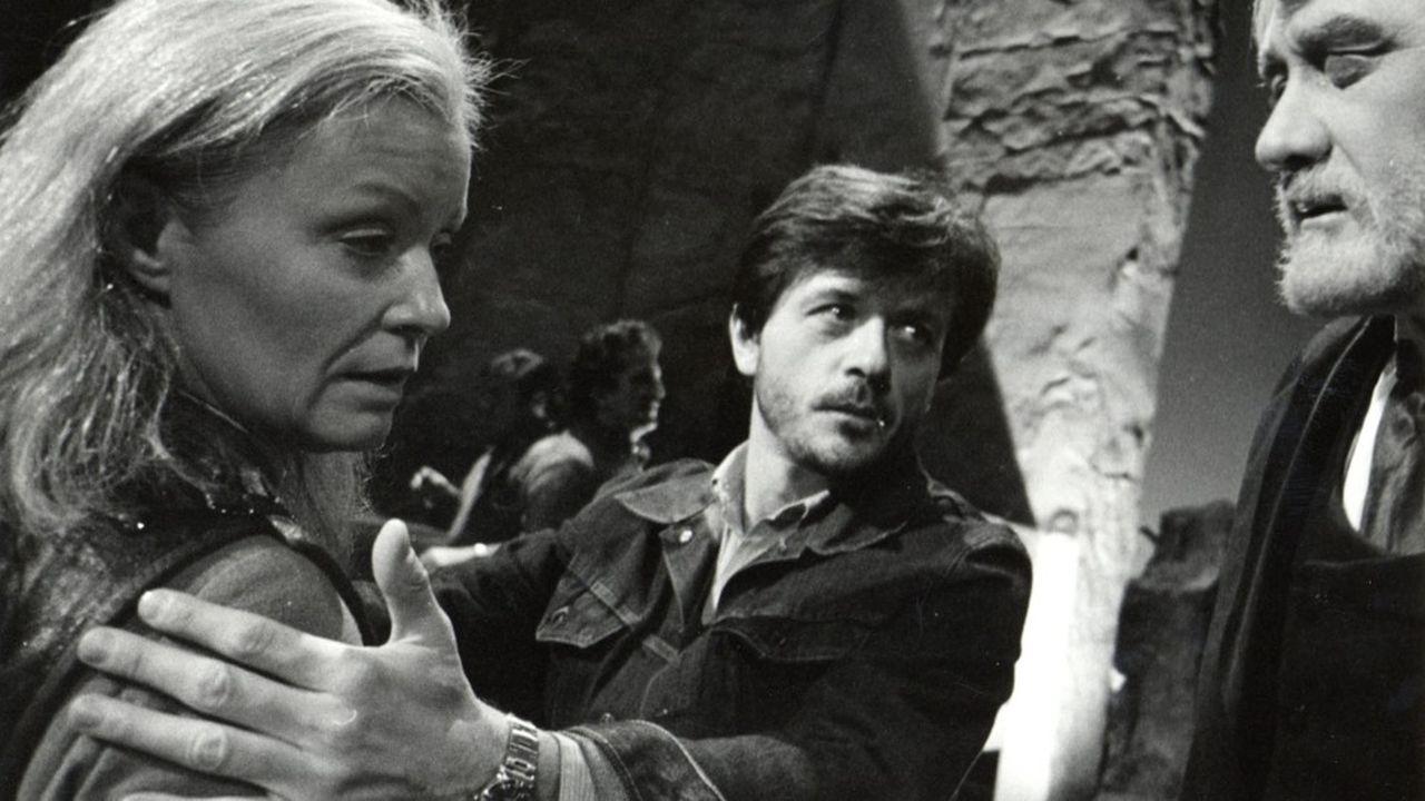 Répétitions à Bayreuth en 1976. La soprano Gwyneth Jones, Patrice Chéreau et le baryton.