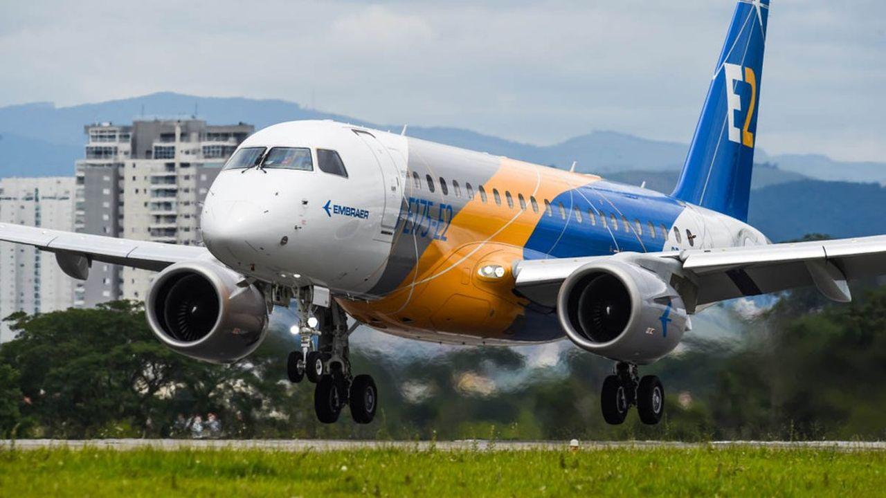L'entrée en service du dernier-né d'Embraer, l'E175-E2, est reportée à 2023.