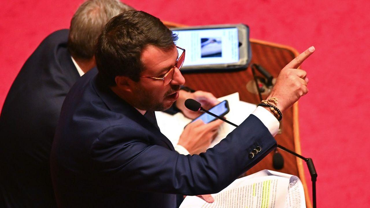 Il y a tout juste un an, Matteo Salvini provoquait une crise gouvernementale.