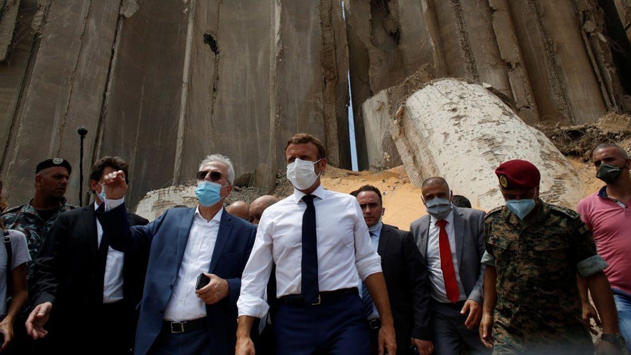 Le président français, Emmanuel Macron, a visité le site dévasté de l'explosion à Beyrouth ce jeudi.