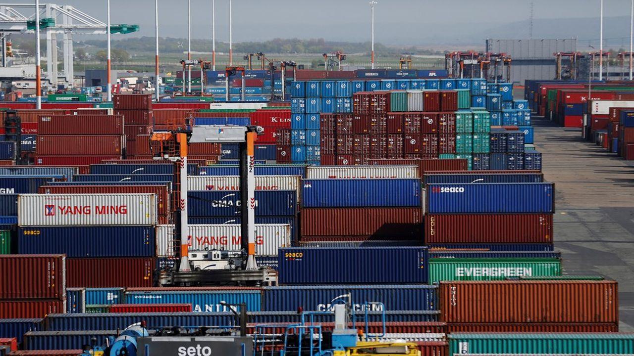 Des containers sur le port duHavre.