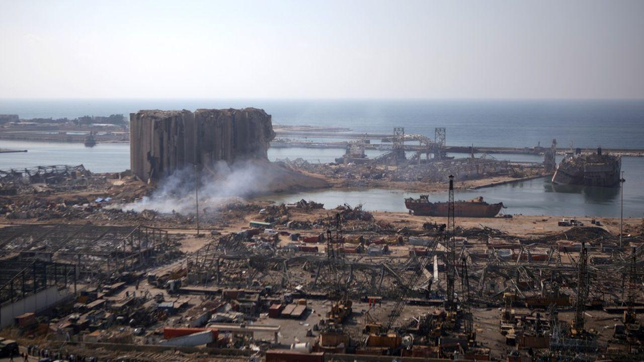 La cargaison du Rhosus a été placée dans le hangar numéro12 du port de Beyrouth, consacré aux marchandises saisies.