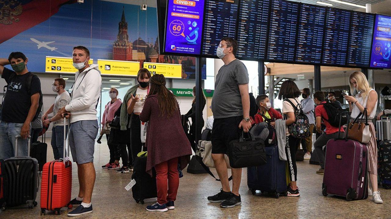 Les deux aéroports internationaux de Moscou (ici celui de Chérémétiévo) ont aussi vu leur fréquentation chuter, mais moins que celle des grands «hubs» d'Europe de l'Ouest.