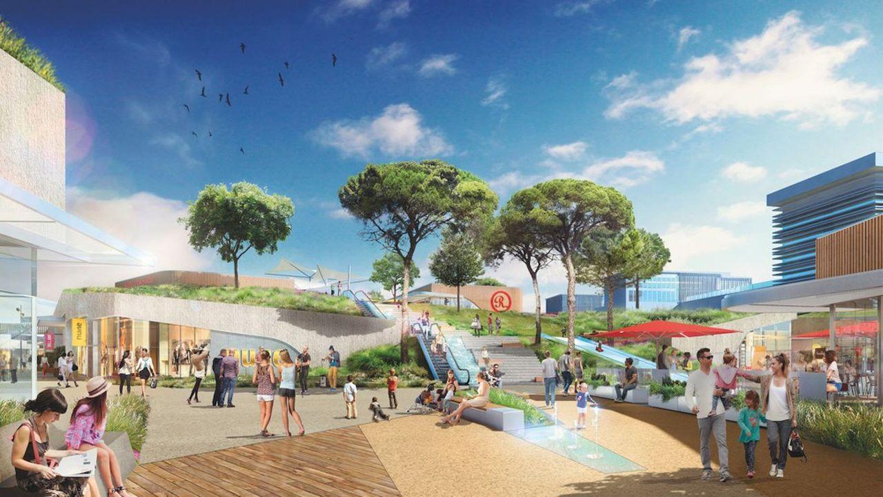 Le projet prévoit 61.000 m² de commerces, dont 42.000 issus de transferts de magasins et 19.000 m² de nouvelles surfaces.