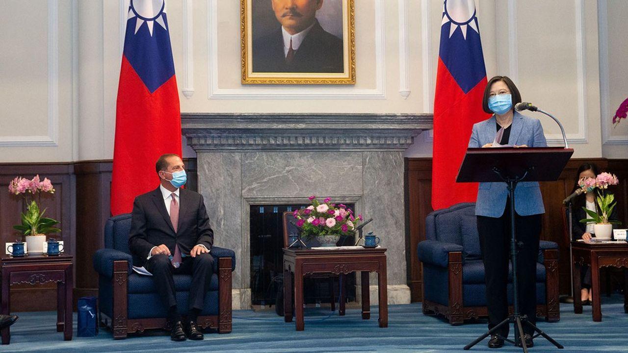 «C'est un véritable honneur d'être ici pour transmettre le fort message de soutien et d'amitié du président Trump à Taïwan», a affirmé Alex Azar, secrétaire américain à la Santé.
