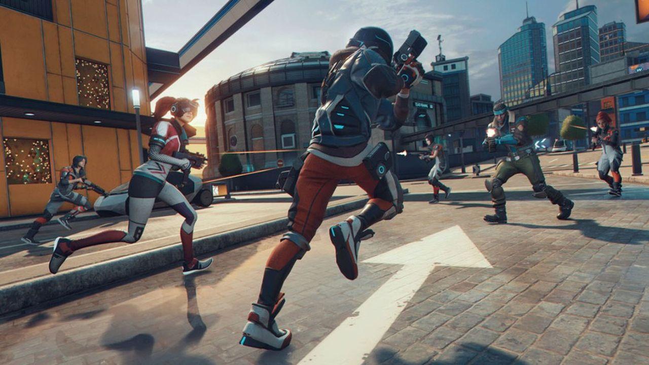 Pour se démarquer, Ubisoft mise avec Hyper Scape sur un univers urbain futuriste.