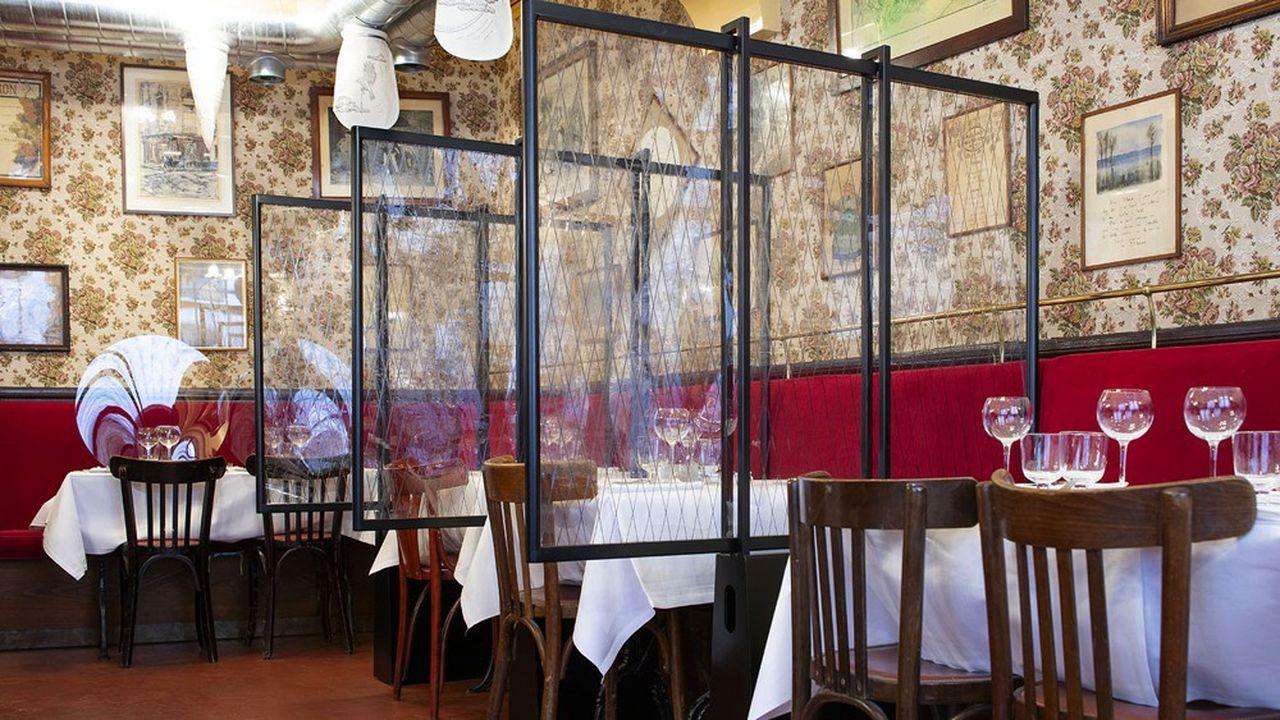Au restaurant Allard d'Alain Ducasse, un lourd travail a été réalisé sur la qualité de l'air.