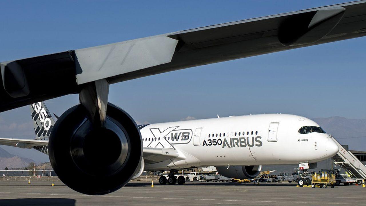 Les 370 Airbus A350 en service dans le monde n'ont connu aucun incident majeur depuis l'entrée en service, en 2015.