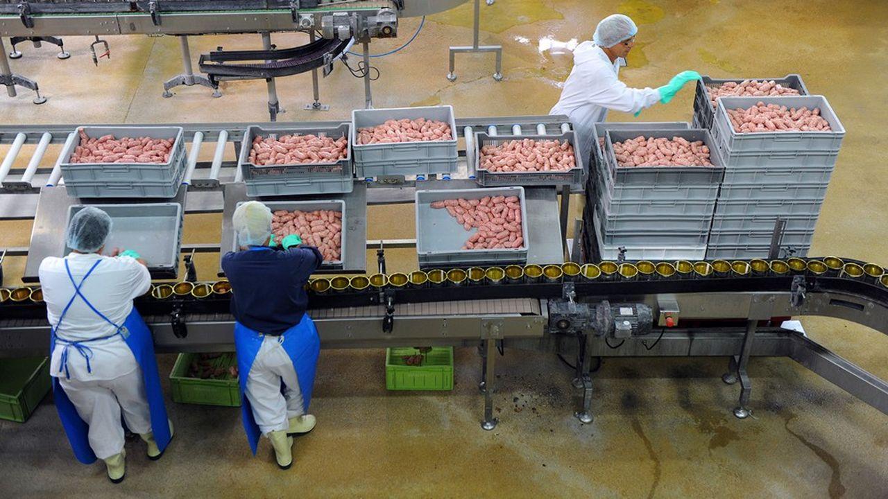 Une usine à saucisse de La Lauragaise, nouveau nom de Spanghero.
