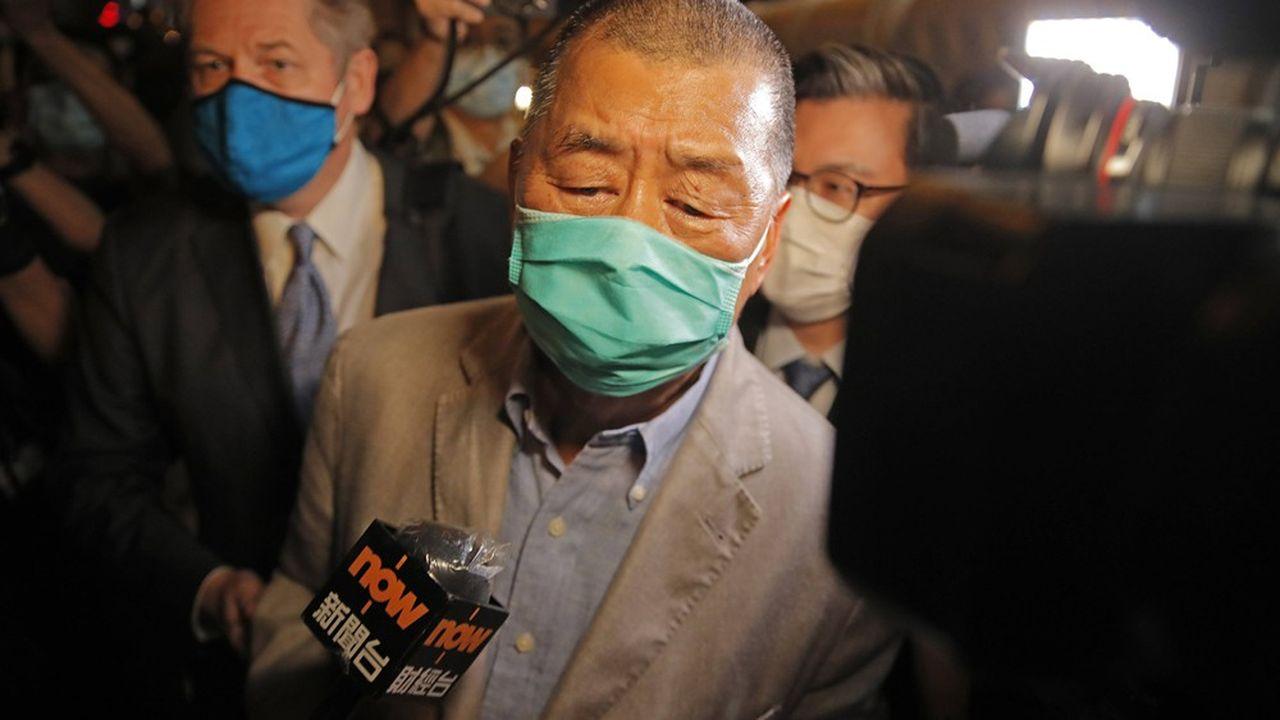 A 71 ans, le magnat de la presse et figure du mouvement pro-démocratie, Jimmy Lai, a été en garde à vue pendant près de 40heures.