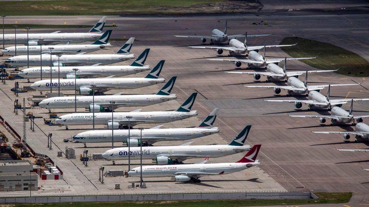 En avril et mai, Cathay Pacific n'a transporté que 500 passagers par jour en moyenne, clouant au sol une dizaine de ses avions à l'aéroport de Hong Kong.