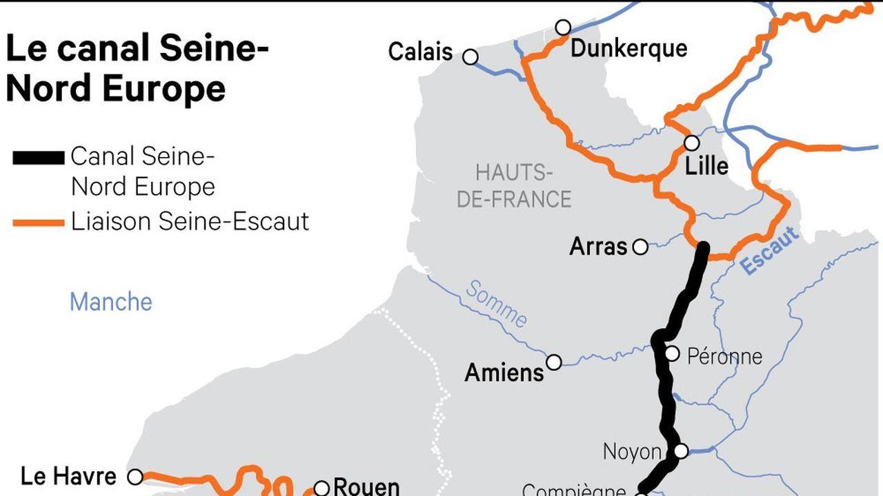 Le canal doit notamment relier les grands producteurs de céréales avec le port de Rouen, spécialisé dans ces matières premières.