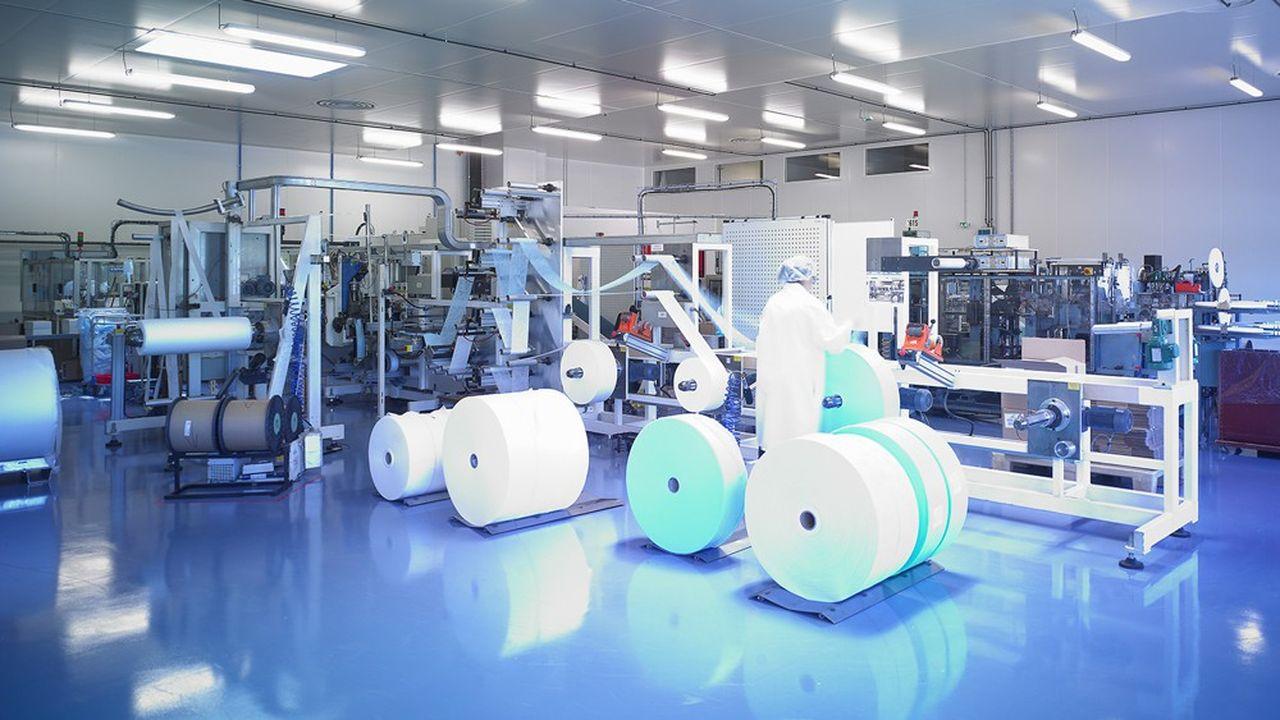 Entre janvier et septembre, la production de Kolmi-Hopen sera passée de 300.000 à 3,5millions de masques par jour.