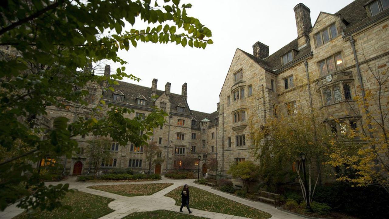 Le campus de l'université de Yale à New Haven, Connecticut.
