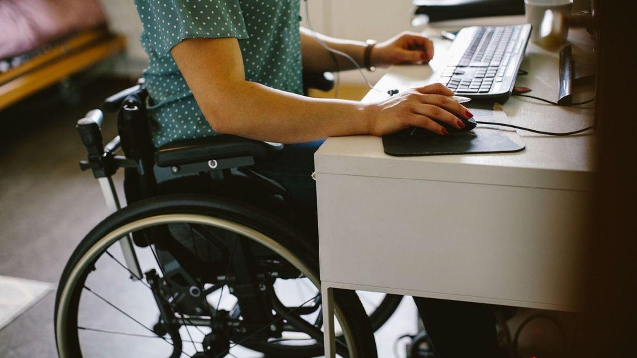 Chez les travailleurs handicapés, le taux de chômage est le double du taux moyen de la population active.