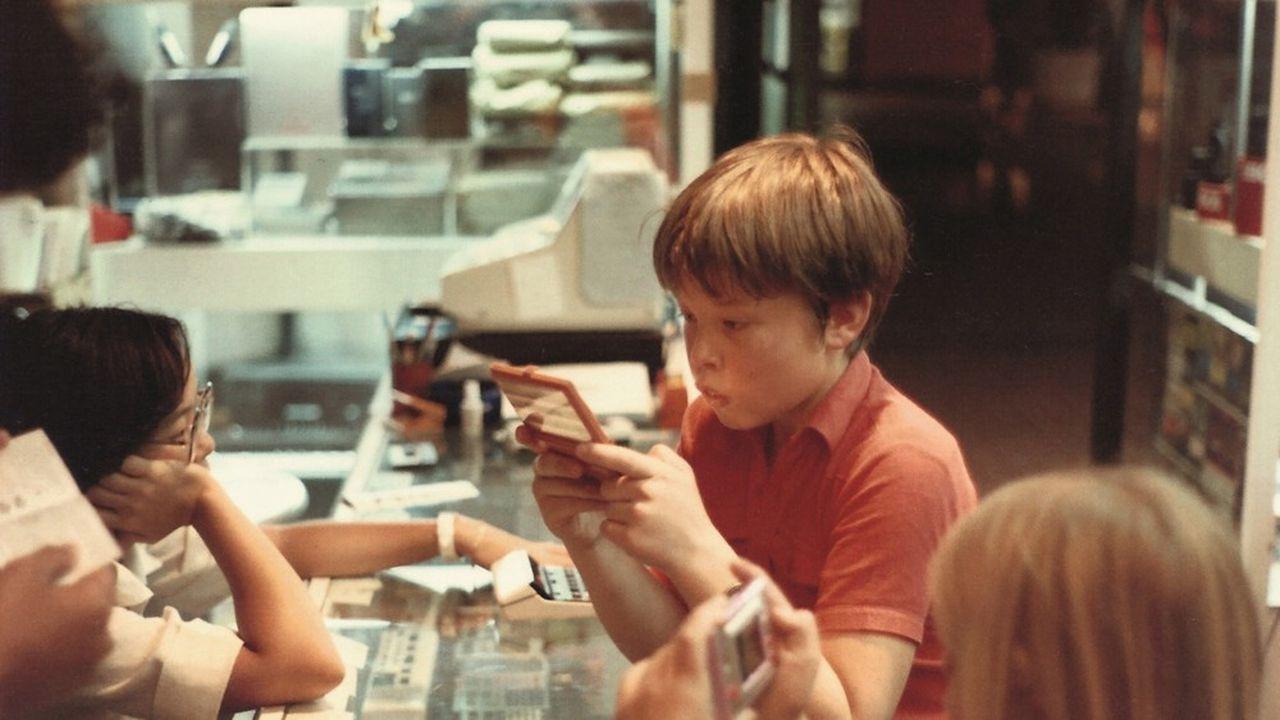 1982: Elon Musk à l'âge de onze ans.