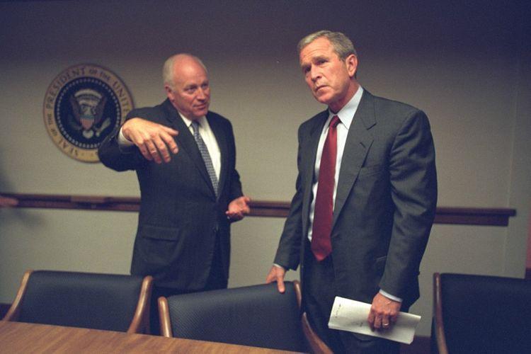 Le vice-président Dick Cheney et le président George W. Bush, le jour des attaques du 11septembre 2001.