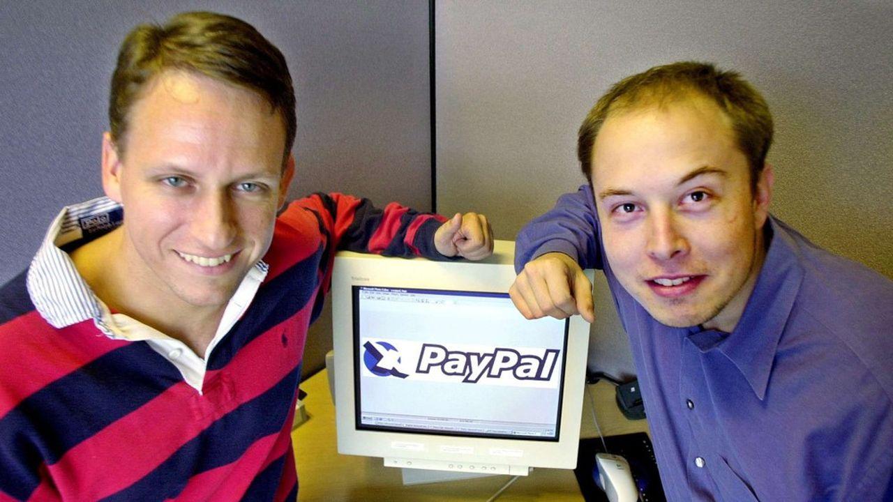 Peter Thiel et Elon Musk en octobre2000.
