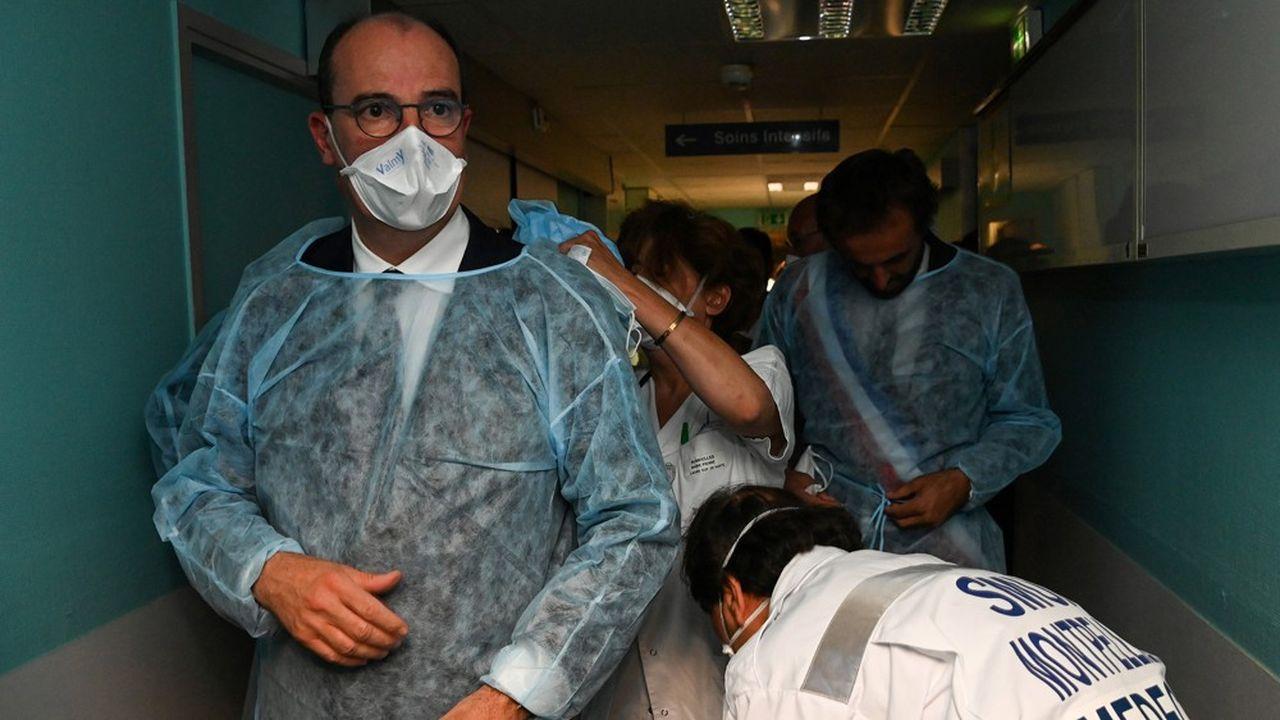 En visite la semaine dernière au CHU de Montpellier, Jean Castex a adopté un ton ferme face au rebond de l'épidémie de Covid-19.