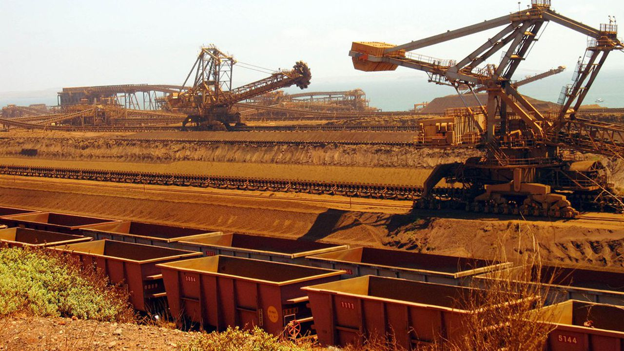 Des installations portuaires de Rio Tinto dans la région de Pilbara en Australie.
