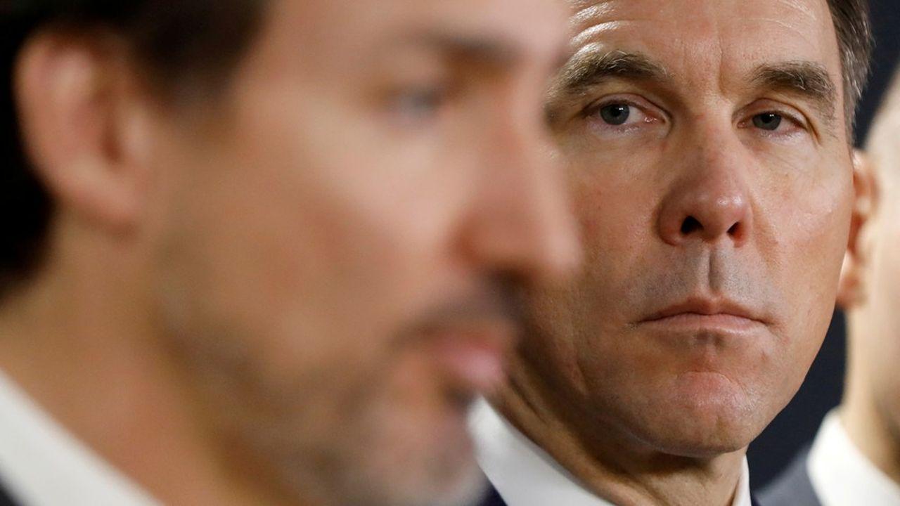 Bill Morneau, le ministre canadien des Finances, était en désaccord avec le chef du gouvernement, Justin Trudeau, sur le plan de relance imposé par le Covid-19.