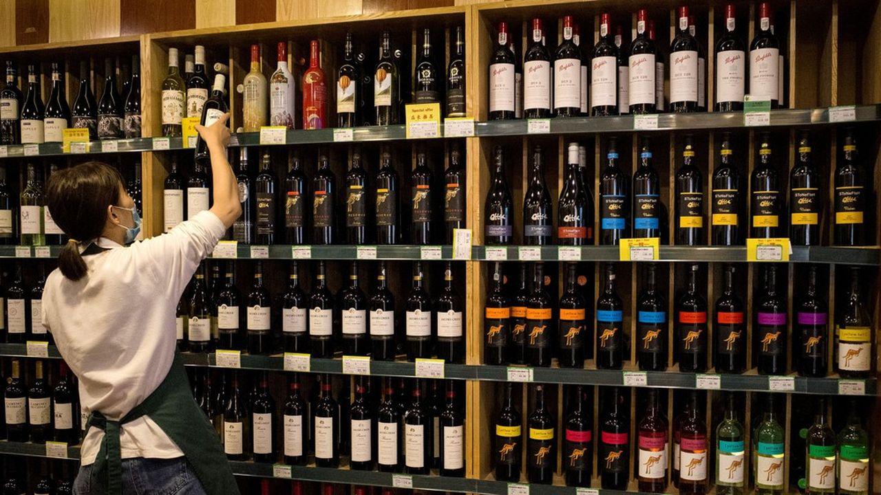 Les exportations de vin australien vers la Chine ont atteint l'équivalent de 760milliards d'euros en 2019.