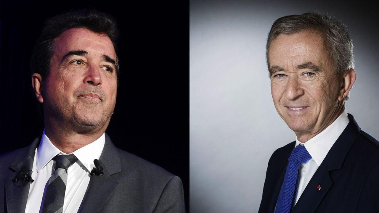 Arnaud Lagardère et Bernard Arnault.