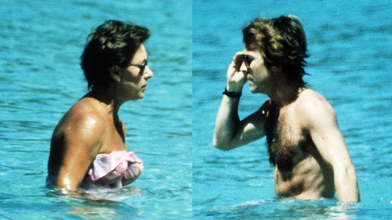 La princesse Margaret à l'île Moustique, dans les Caraïbes, pendant ses vacances avec son petit ami Roddy Llewellyn en 1976. Les paparazzis viennent de faire une entrée fracassante dans l'intimité de la famille royale.