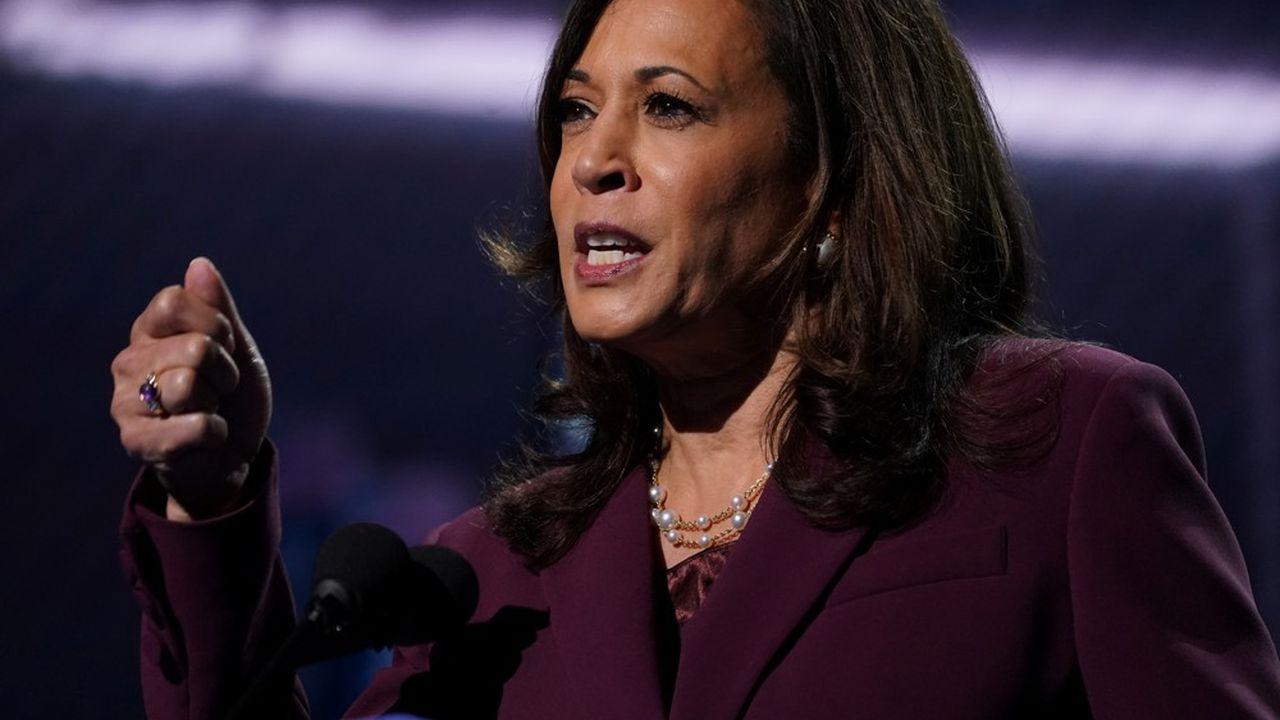 «Battons-nous avec conviction, avec espoir, avec confiance», a exhorté Kamala Harris depuis le Chase Center de Wilmington, la ville du Delaware où vit Joe Biden et d'où il fait campagne depuis mars.