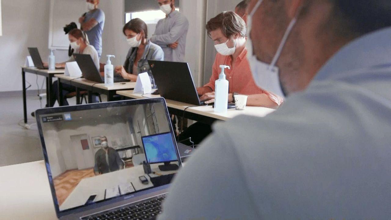 L'objectif de l'entreprise est de permettre la formation à distance de 100.000 professionnels de santé.