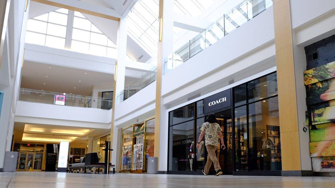 Un «mall» de Simon Property Group dans l'Indiana, en mars pendant la période de fermeture des commerces non essentiels.