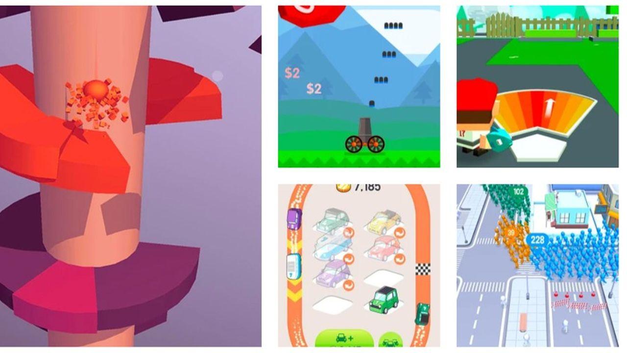 Quelques exemples des jeux proposés par Voodoo.
