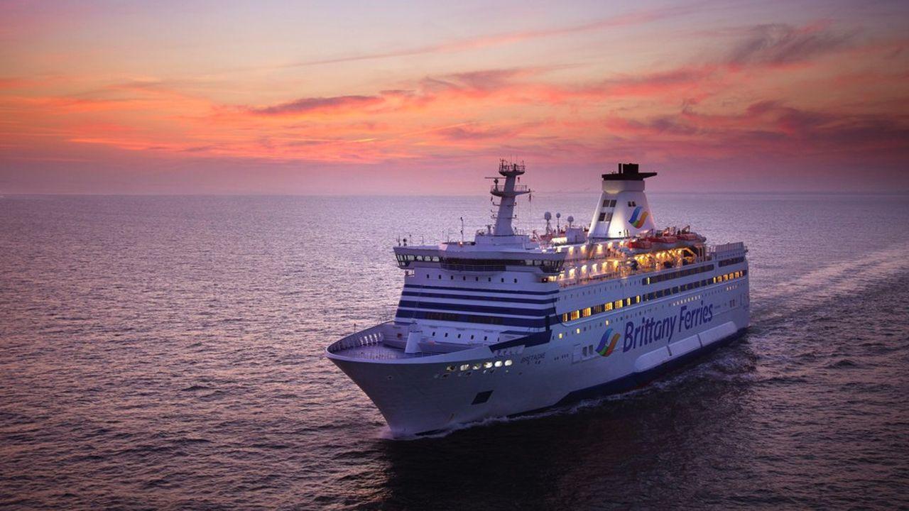 Brittany Ferries sort de flotte plusieurs de ses bateaux dont le Bretagne