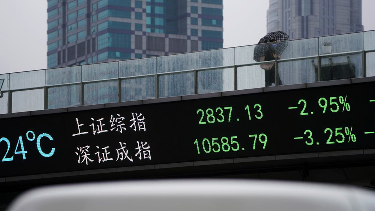 L'indice de la Bourse de Shanghai et de Shenzhen gagne plus de 14% depuis janvier.