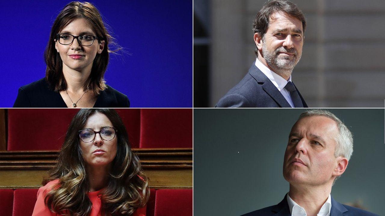 Cinq députés LREM sont candidats pour succéder à Gilles Le Gendre à la présidence du groupe (Patrice Anato ne figure pas sur la photo).