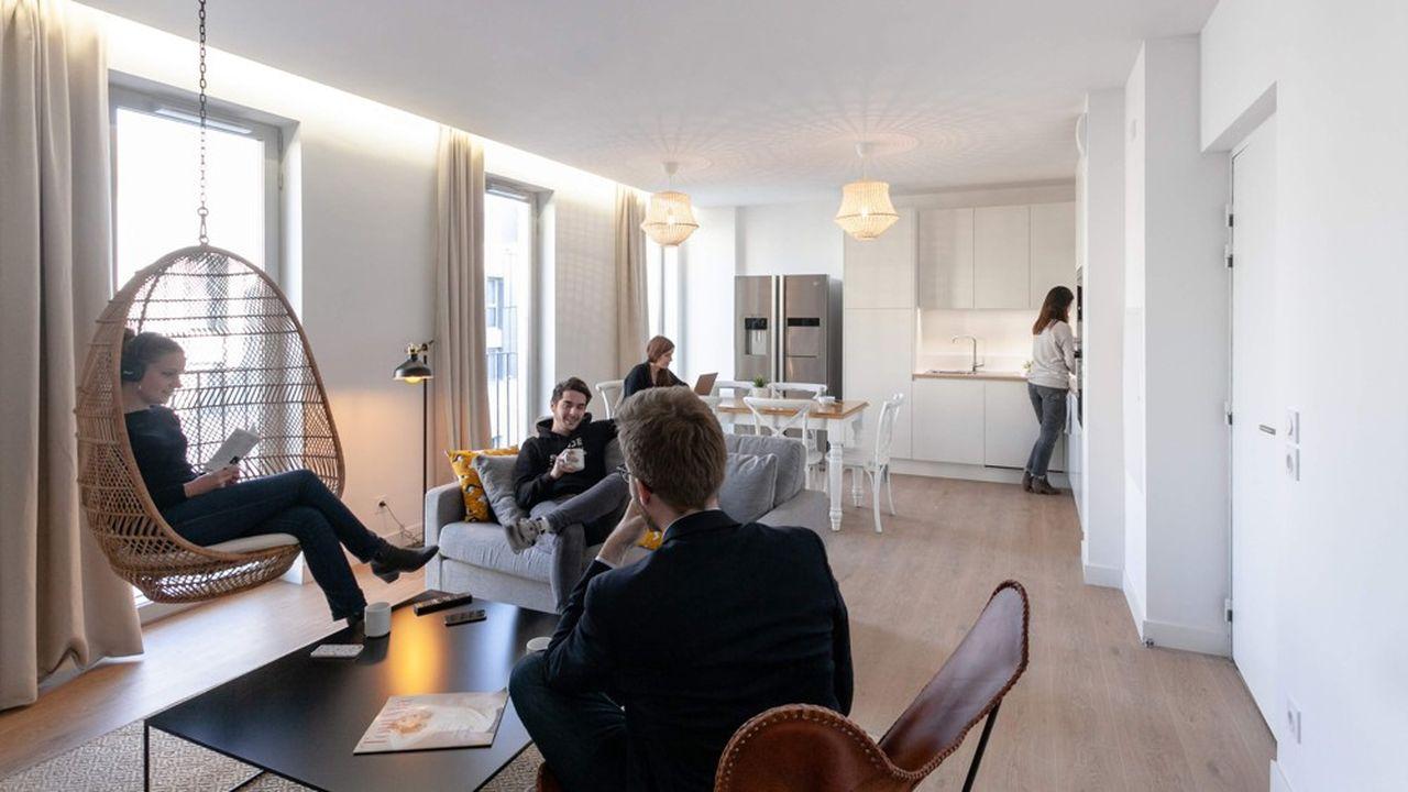 Le coliving permet d'avoir de l'intimité, avec sa propre chambre ou son propre studio, et de profiter selon ses envies de la convivialité au sein d'espaces communs (ici à Marseille, dans une résidence de The Babel Community).