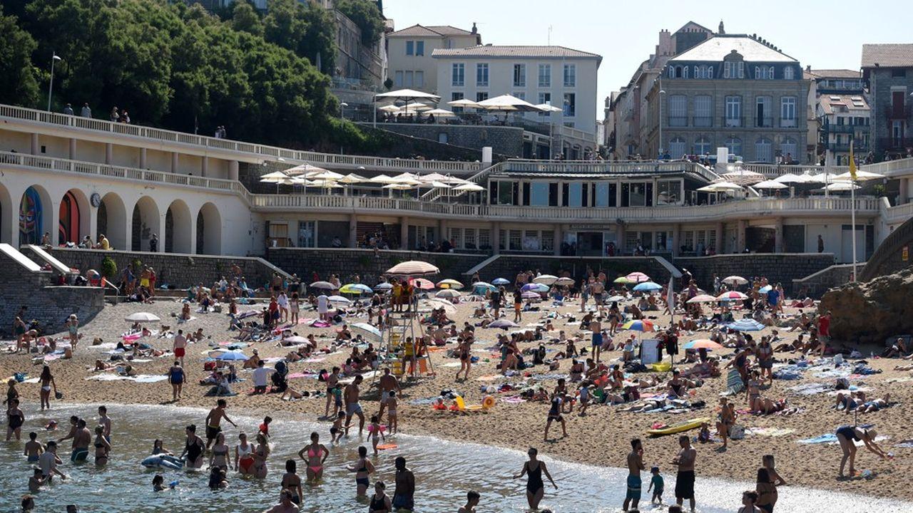 Biarritz (notre photo) est l'une des stations du littoral métropolitain dont l'activité hôtelière a été soutenue, avec un taux d'occupation d'au moins 75%, selon le cabinet spécialisé MKG.