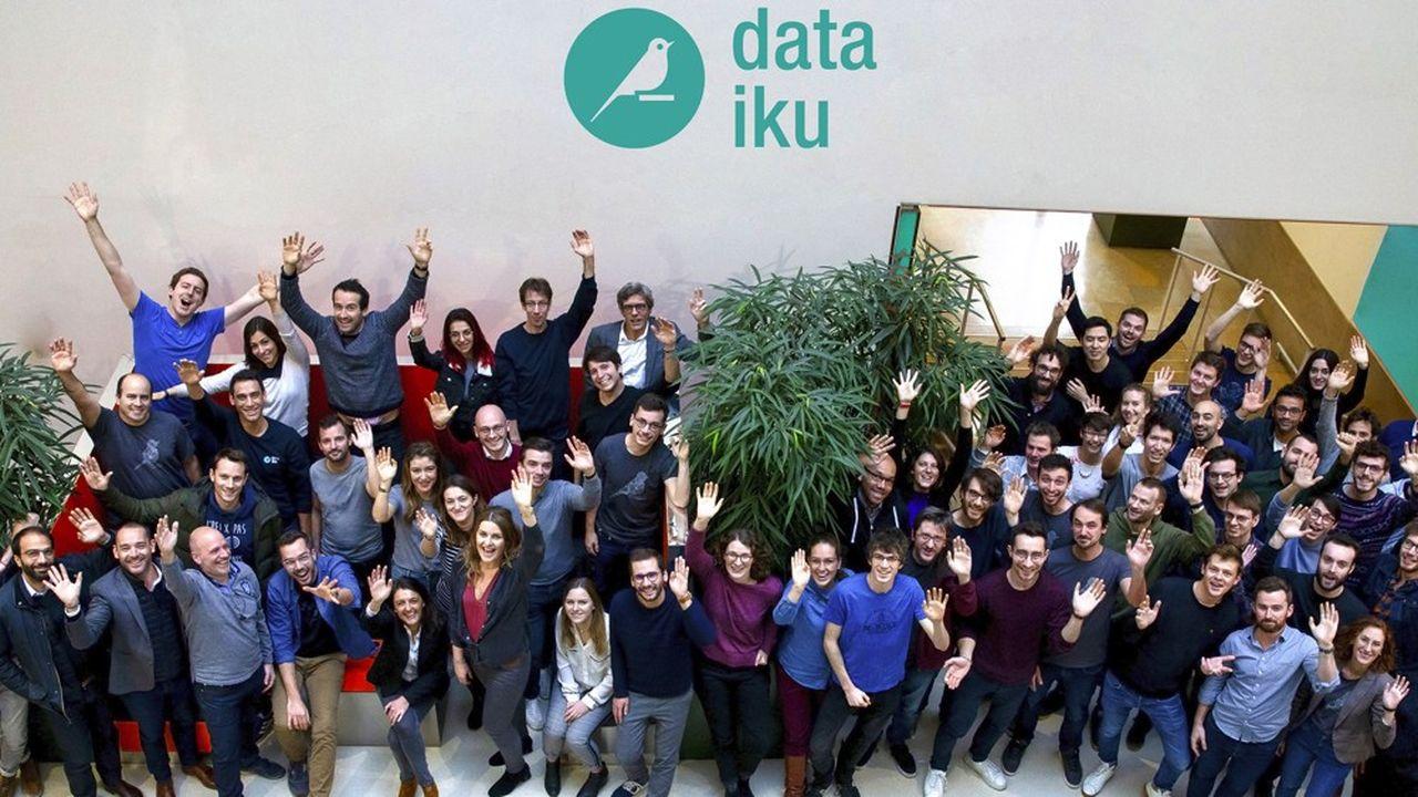 Dataiku compte 450personnes. Malgré un siège social à New York, son plus gros bureau reste à Paris.