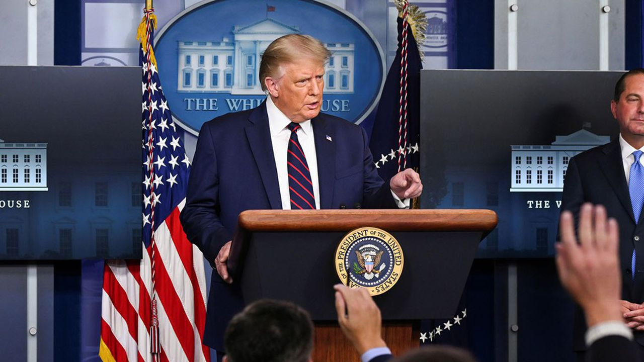 Donald Trump a repris ses conférences de presse pour informer la population de l'état de la crise sanitaire dans le pays.