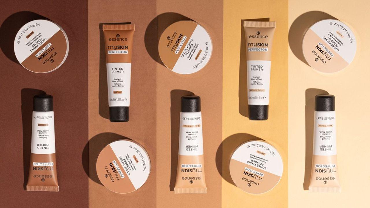Essence offre une large gamme de produits, avec 250 références