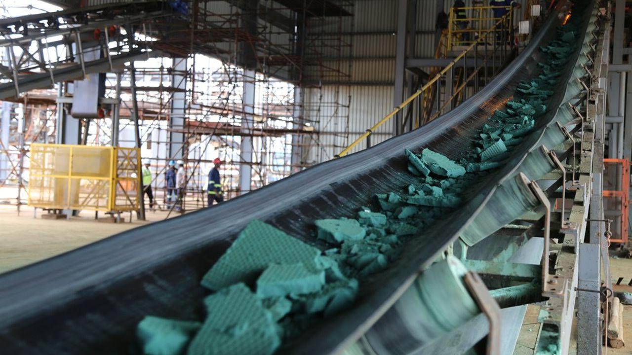 Du minerai de cobalt prêt à être exporté vers la Chine.