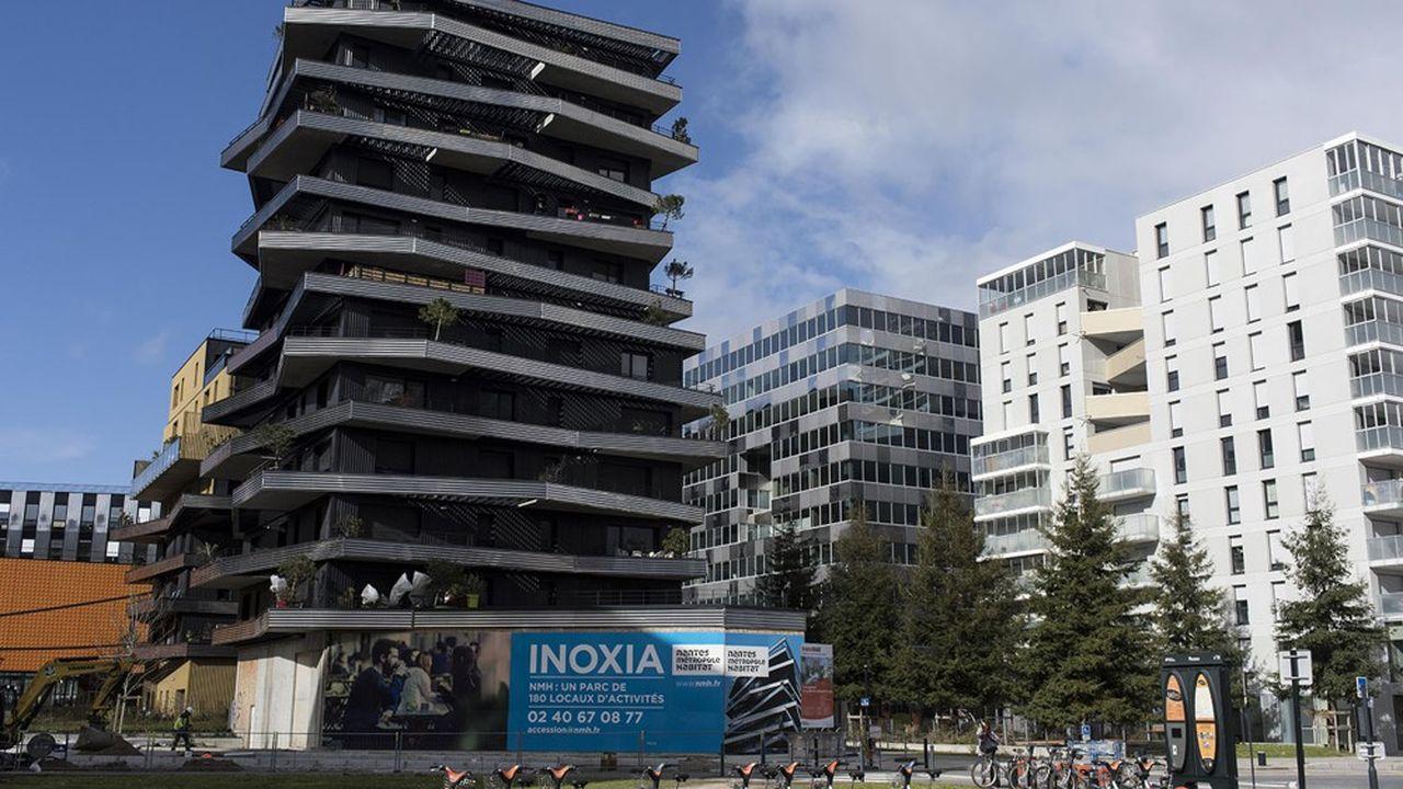 Un ensemble d'immeubles neufs à Nantes (Loire-Atlantique).