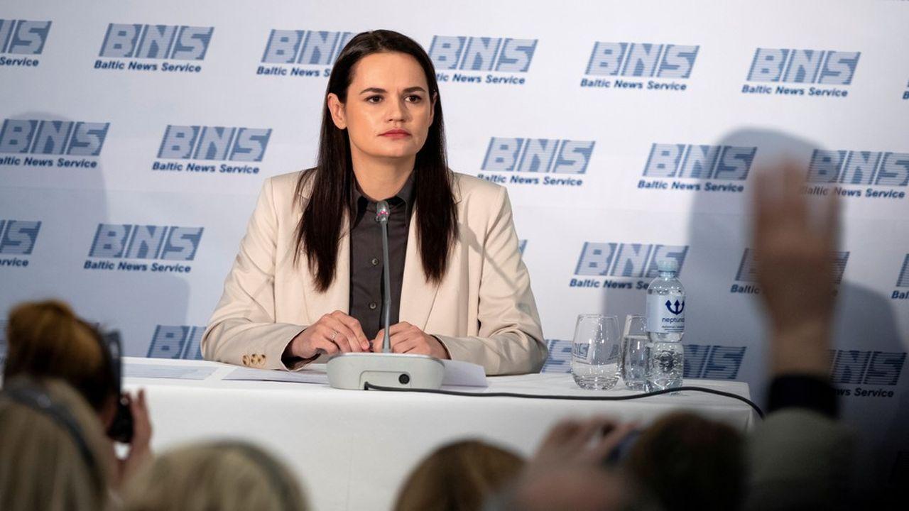 Svetlana Tikhanovskaïa, candidate de l'opposition à la présidentielle biélorusse du 9août et désormais égérie de la contestation.