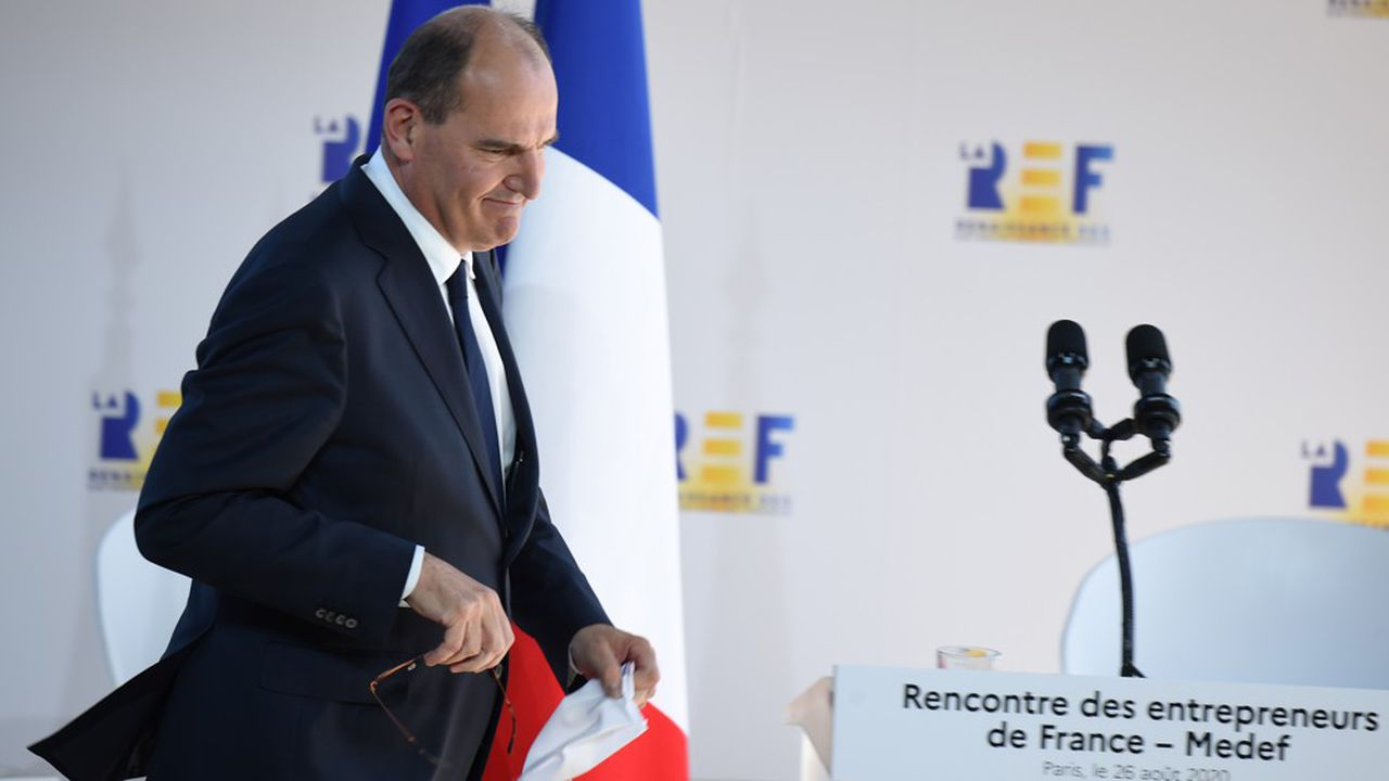 Jean Castex devant le MEDEF.