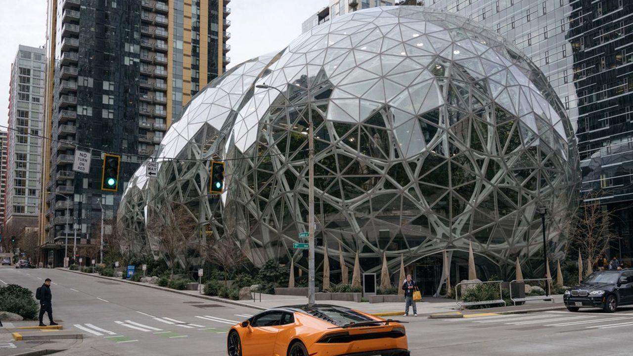 Les Sphères d'Amazon, dans le quartier de Belltown.