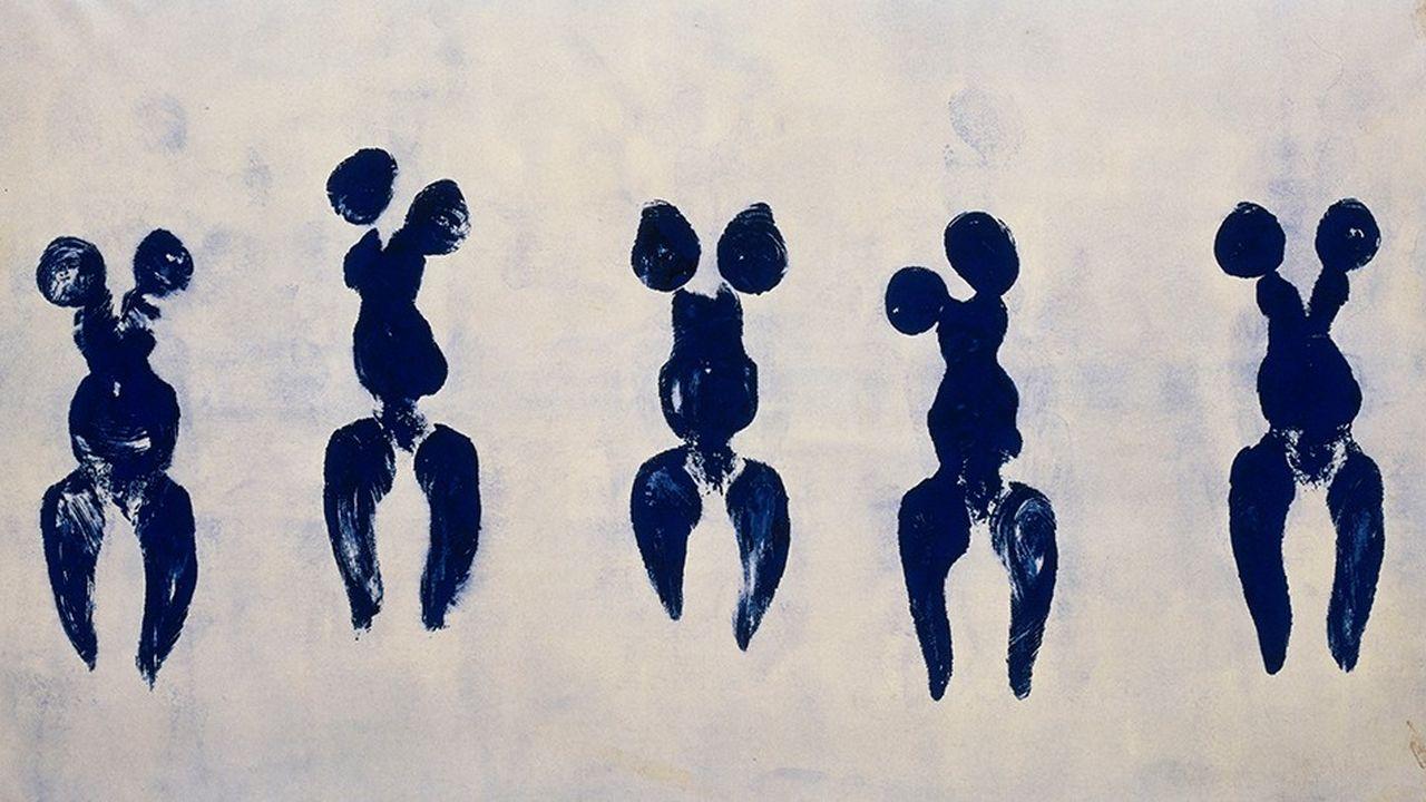 Yves Klein, Anthropométrie de l'époque Bleue, (ANT 82)